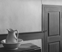 "George Tice, ""Shaker Interior,"" Sabbathday Lake, Maine, 1971."