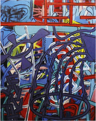 "Perry House, ""Untitled,"" 1983, acrylic on canvas, 60x48."""