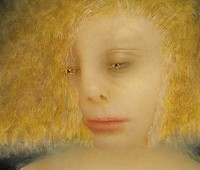 "Anne Harris, ""Portrait (Blonde),"" 2003, 12x12."" Private collection."