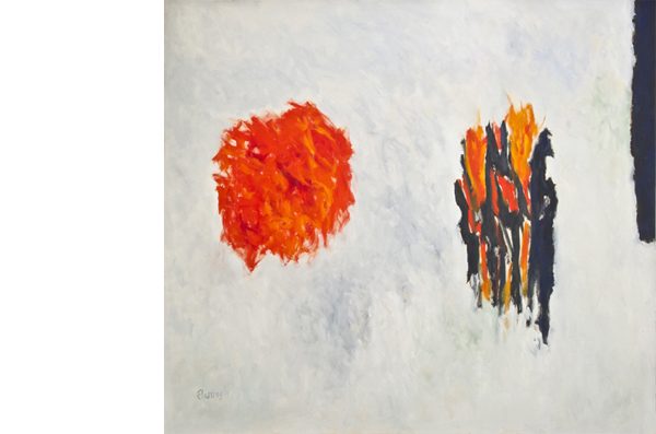 "Theodoros Stamos, ""Sun Games #3,"" 1959-1978, oil on canvas, 64 x 70."" Image courtesy Graham Gallery."