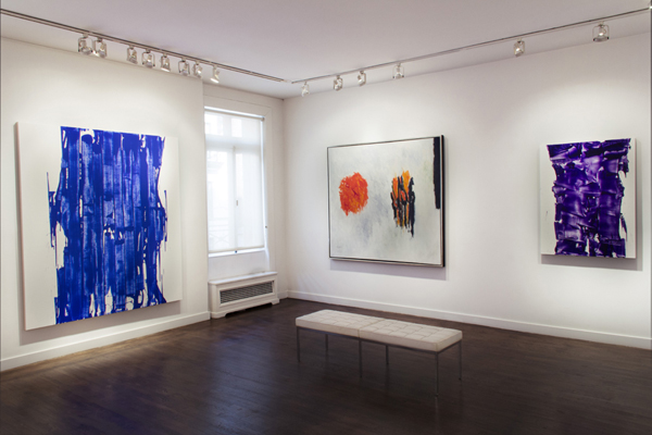 "Installation, ""Re-Irascibles: Theodoros Stamos and John Zinsser,"" Graham Gallery."