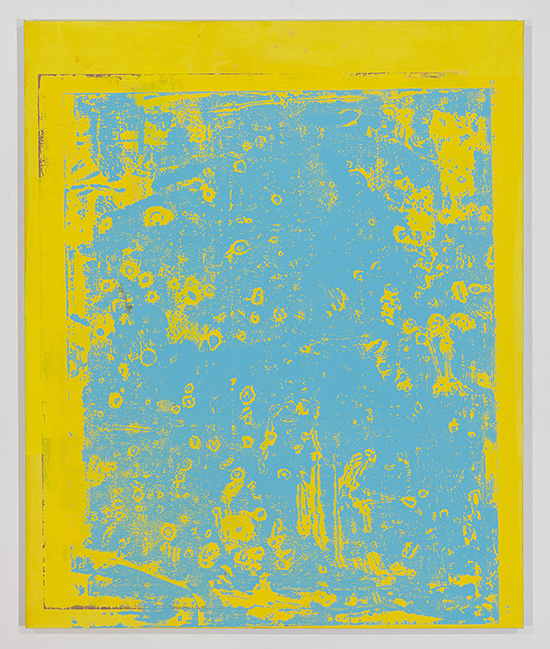 """Stephen Maine, """"P15-0702,"""" 2015, acrylic on canvas, 68 x 56,"""" photo by Etienne Frossard."""