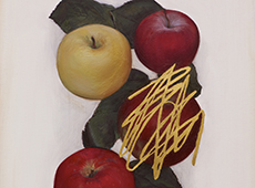 © Jen Mazza, Untitled (4 Apples, Gold), 2014, Detail